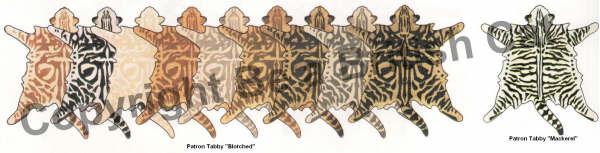 Dessins des différents patrons Blotched et Mackerel